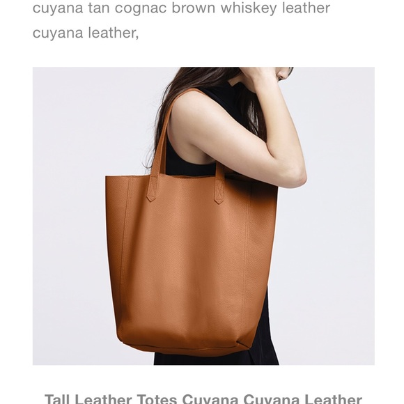 05be278d89c1 Cuyana Handbags - Cuyana tall chestnut tote